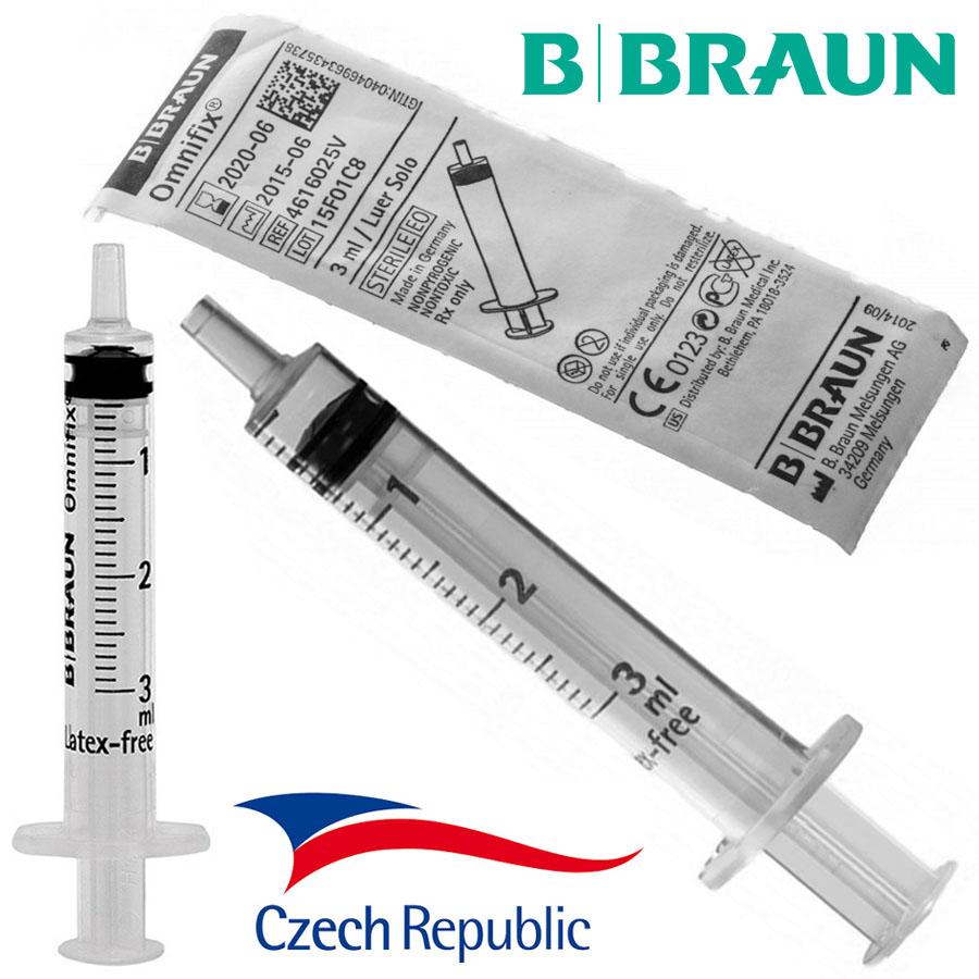 Injekční stříkačka bez jehly 3ml (CZ)