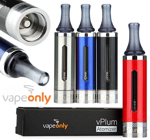 VapeOnly vPlum BVC Clearomizer (Ø16,5mm/3ml/1.8ohm/Pyrex/Nerez)
