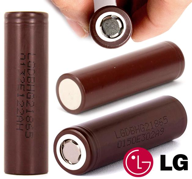 Baterie LG HG2 18650 INR tvrdá (3000mAh, 20A/35A)