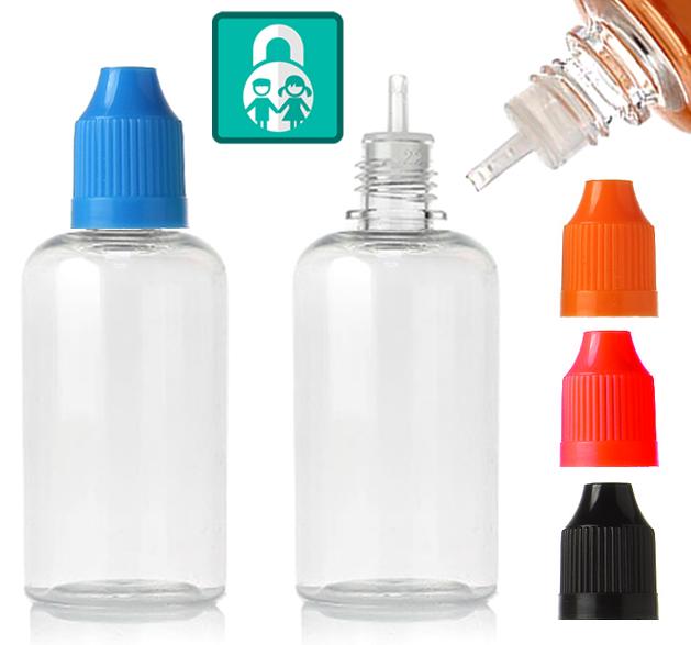 Prázdná lahvička PET s kapátkem 50ml